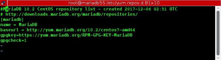 ขั้นตอนการอัพเกรดจาก MariaDB 5.5 ไปเป็น MariaDB 10.2